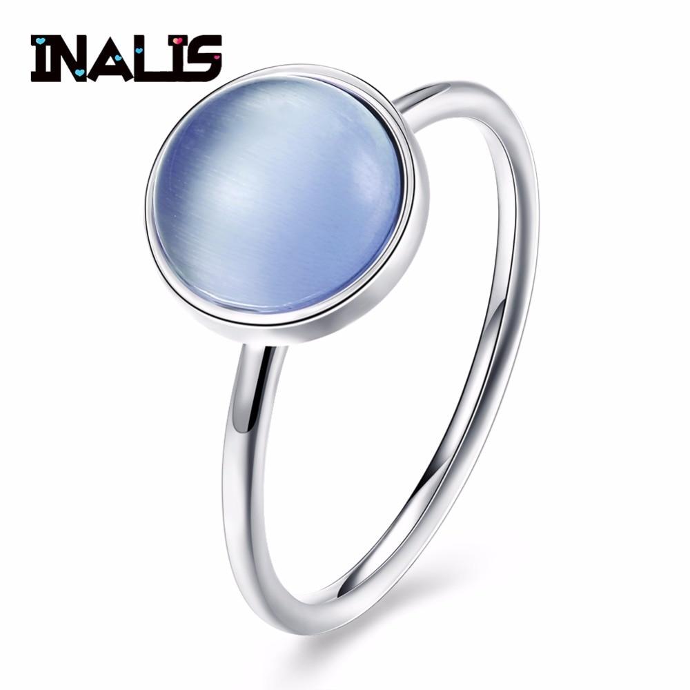 INALIS Klassik Trendy Dizayn S925 Sterling Gümüş üzük, Açıq - Gözəl zərgərlik