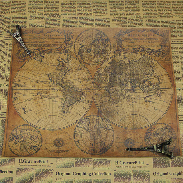 Free ship vintage world map poster skyfall classic movie retro kraft free ship vintage world map poster skyfall classic movie retro kraft paper posters living room wall gumiabroncs Images