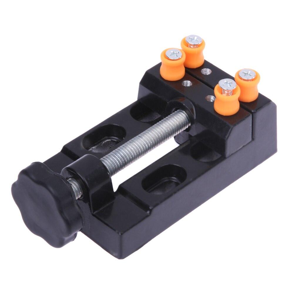 125x55x35mm Aluminium AlloyAdjustable Bench Table Vise Plier Jewelry Watch Repair Tool Kit Watchmaker Watch Maintance Tool