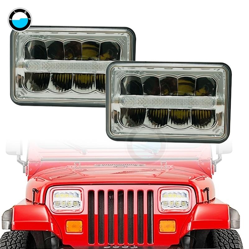 Rectangle 4x6 inch led headlamp high low Beam H4 led headlights bulbs white H4651 H4652 H4654