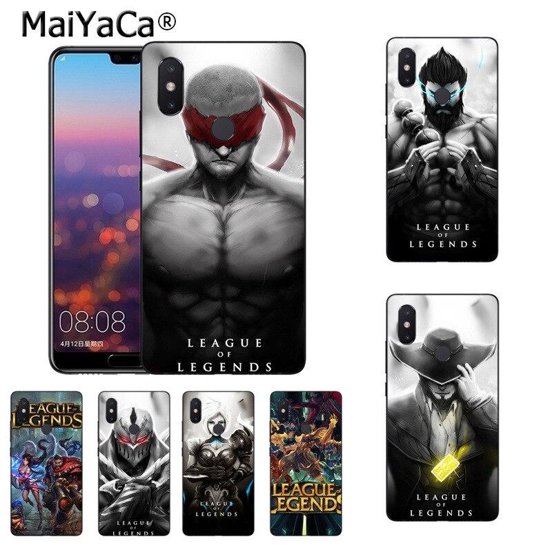 Cheap Sale Maiyaca Lol Heros Black Silicone Soft Tpu Phone Accessories Case For Xiaomi Mi 8se 6 Note2 Note3 Redmi 5plus Note 4 5 Cover
