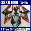 Full Fairing Kit For Injection Molding SUZUKI K5 GSXR1000 05 06 Brown Black ABS Fairings Set