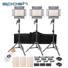 spash TL-600S 3 Sets LED Video Light Photographic Lighting 600 LED 3200K/5500K CRI90 Photo Lamp Panel LED Lights for Video Shoot