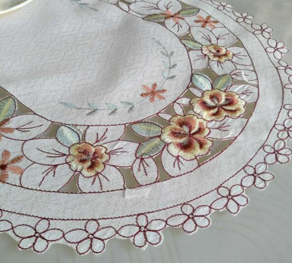 Modern Embroidery Table Place Mat Pad Cloth Hot Felt Placemat Pot