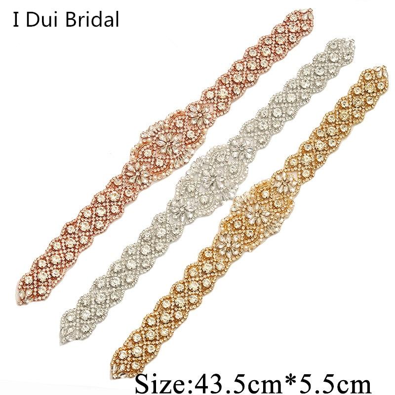 Bridal Sash Rhinestone Applique Crystal Pearl Rhinestone Belt Trim - Үйлену керек-жарақтары - фото 6