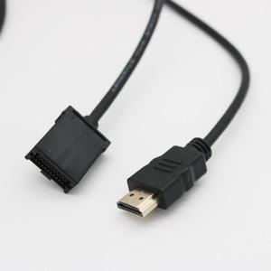 Image 3 - Kabel HDMI o dużej szybkości transmisji typ A męski na HDMI 1.4 typ E męskie wideo kabel Audio adapter do ładowania do samochodów samochodowych Multimedia 1080 P 5FT