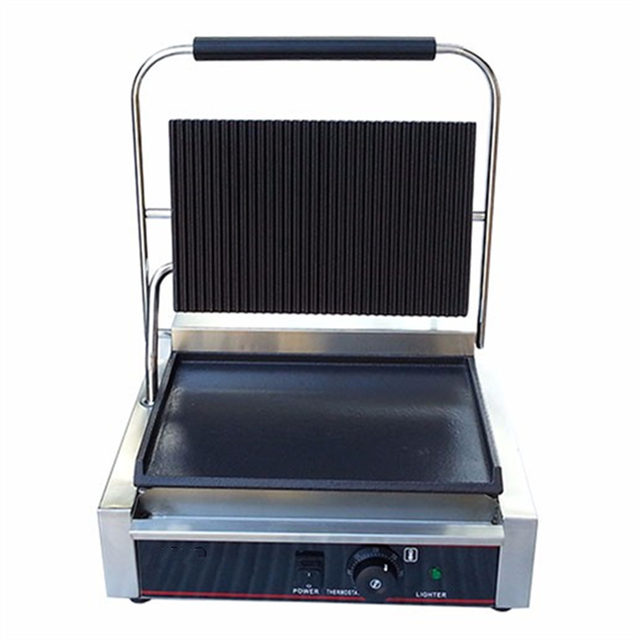 Best Price Panini Grill Sandwich Contact Grill Electric Griddle Double Heads Groove Plates For Sale