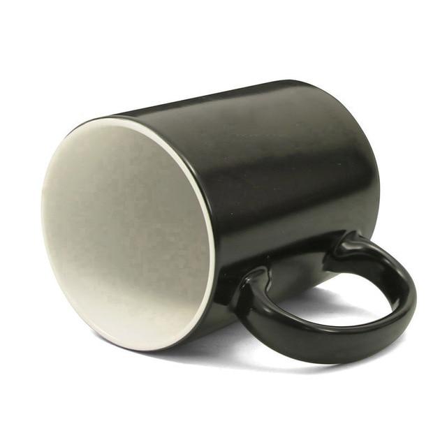 Fire On Skull Funny Scary Magic Mug Hot Cold Color Changing Coffee Mug 350ml Ceramic Mugs Cup Creative Gifts
