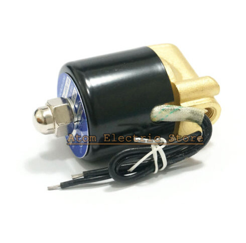 Package mail  2W025-06 Electric Water Valve 1/8  Brass Normal Closed DC12V, DC24V AC110V, AC220V water valve electric dc12v brass 1 3 wires or normal closed wires for fan coil heating water treatment
