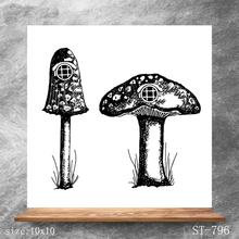 ZhuoAng Mushroom house Transparent Seals for DIY scrapbooking photo album Clear Stamps