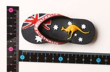 Australian flag kangaroo Features travel fridge stickers