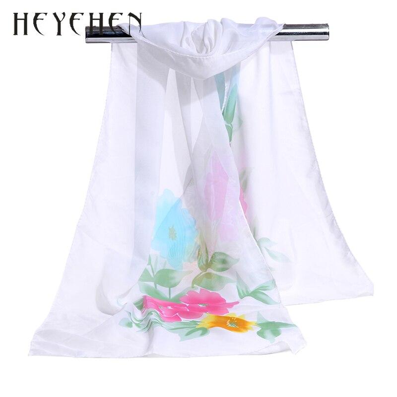 Для женщин бандана летняя шифоновая солнцезащитный крем Шелковый Шарф Цветочные листьев платок женский платок мусульманский хиджаб палан...