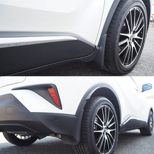 JY 4PCS Black ABS Mud flaps Mudguard Dirt Fender Cover Car Styling Accessories For Toyota C-HR CHR 2018