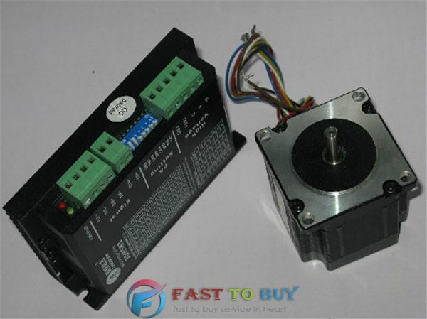 цена на Leadshine NEMA23 3-phase Stepper Motor and Drive 3DM583+573S09 0.9N.m Stepping Motor Driver Kit with Cable New Original