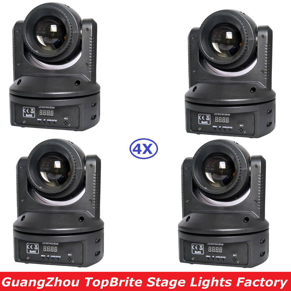 Fast Shipping 4 Unit 68W High Power LED Beam Moving Head Lights With 9/11Chs For Professional Stage Disco Party Events Lighting