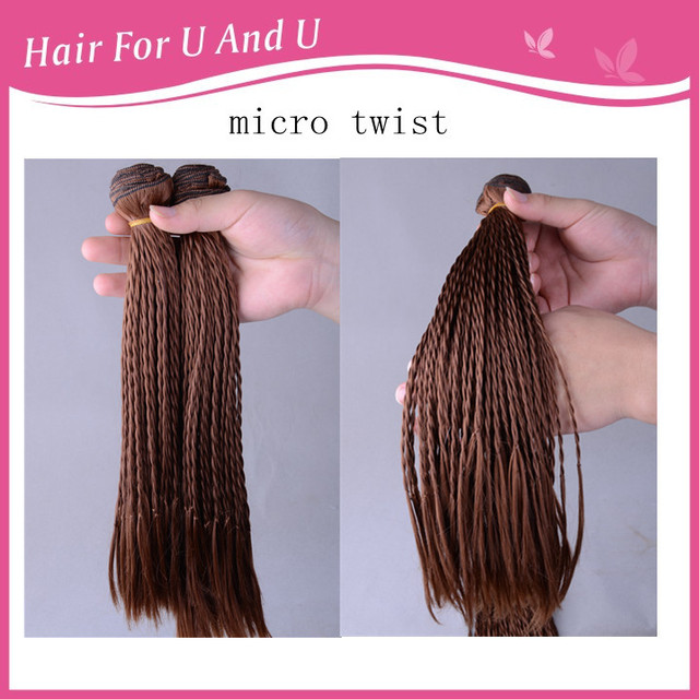 2017 New Coming 2pcs Set Synthetic Afro Twist Micro Braids Hair Weaves Dread Lock Extensions