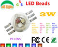 Wholesale 100PCs/Lot 3W LED Red 620 - 625 Green 520 - 525 Blue 460 - 465 LED Source 30 Mil RGB 3 in 1 LED Diode CE RoHs