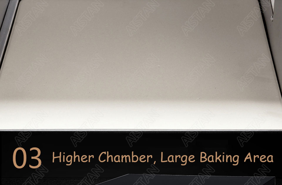 EP1AT electric stainless steel single layer higher chamber pizza oven with timer for baking bread, cake, pizza 10