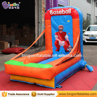 Durable 1.3x2.5x2 M Inflatable baseball throwing type carnival games for adult and children toy shooting bouncer free shipping