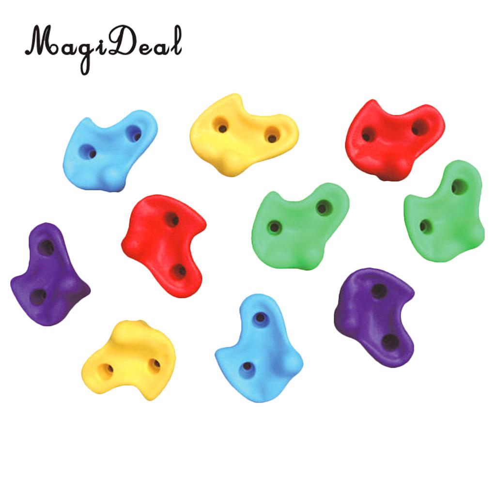 Lixada Pack of 5//10 Rock Climbing Holds Wall Rock Playset Accessories Climbing Stones Kit Set Backyard Kids Toys with Mounting Hardware Screws,Summer Fun,Best Gift for Kiddo//Kids//Children Clubhouse,2 Options:5Pcs Or 10Pcs