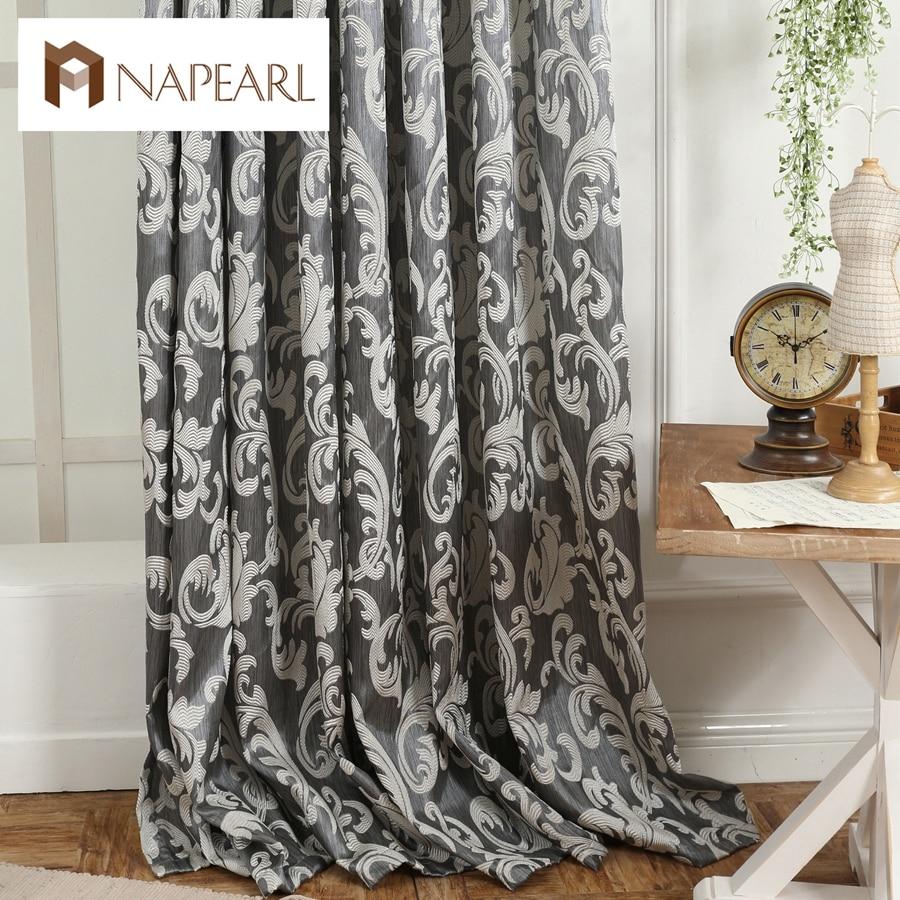 NAPEARL Window Curtain European Style Semi Blackout 3D