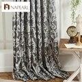Semi-apagón cortina de ventana de estilo Europeo 3D cortinas para la sala de estar moderna cortina de la cocina