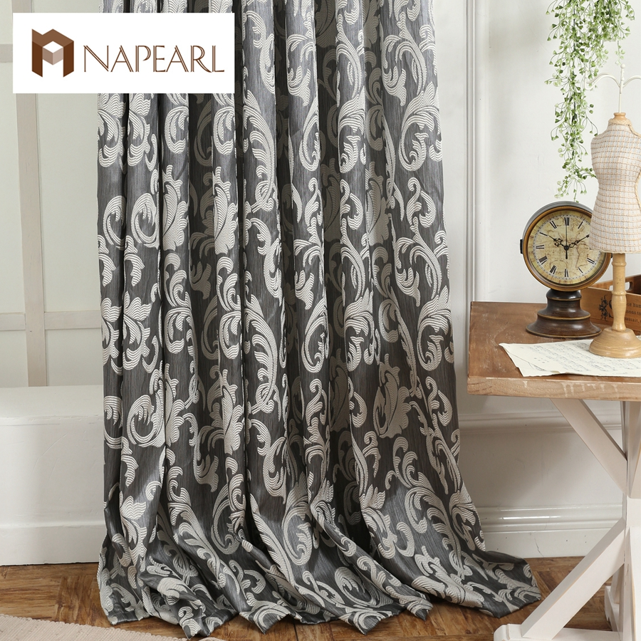Blackout Kitchen Curtains Polyester Valance Tiers 3: Window Curtain European Style Semi Blackout 3D Curtains