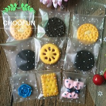 100pcs  White Dots Transparent Frosted Thicken OPP Cookie Baking Packing Bag Event and Wedding Gift Candy Packaging Bags BZ012