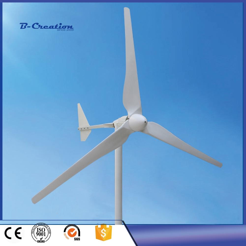 Three Phase AC Output 2KW 2000W 220V Wind Generator/ Wind Turbine 3m/s Low Wind Speed Start 3 blade fr0 a720 2 2k three phase 220v inverter 2 2kw