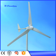 Three Phase AC Output 2KW 2000W 220V Wind Generator/ Wind Turbine 3m/s Low Wind Speed Start 3 blade