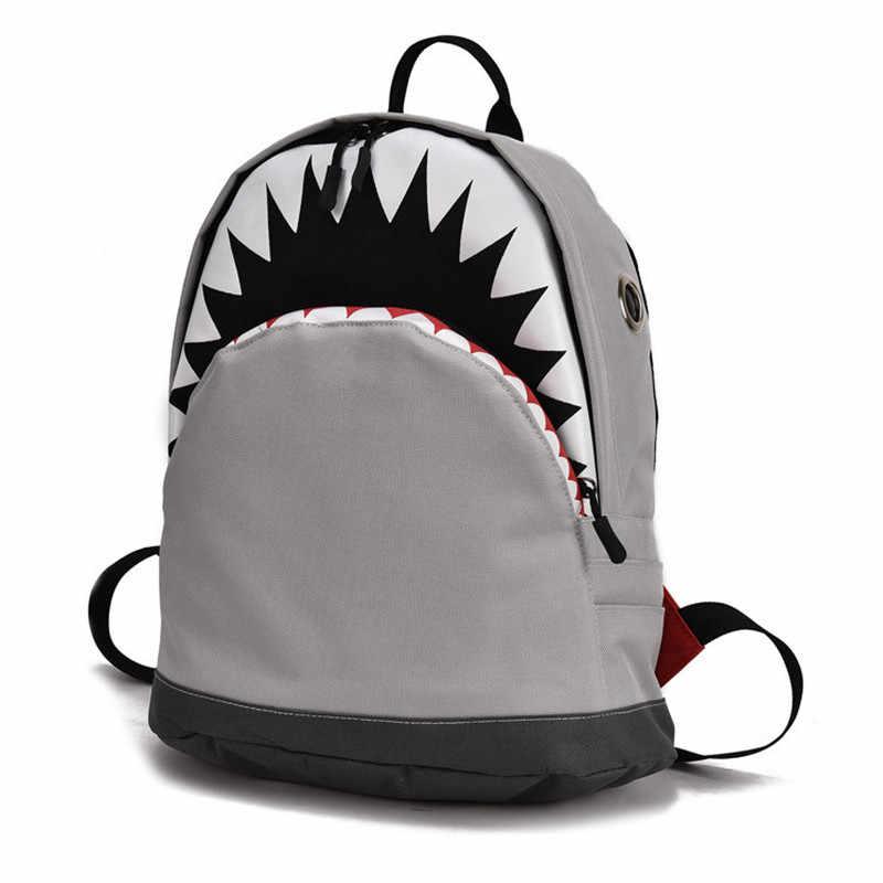 Маленькие Детские Рюкзак-Акула 3D дети сумка для школы и детского сада ребенок холст рюкзак по 2 размера