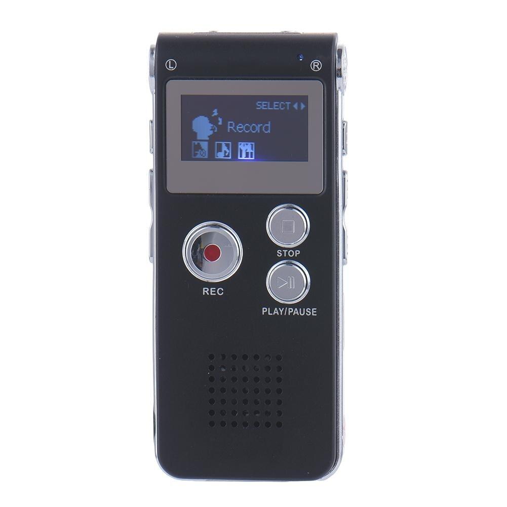 8 GB Clip USB Voice Activated Digital Audio Voice MP3 Diktiergerät Recorder Stifte Stereo Aufnahme Audio Recorder MP3 Player Schwarz