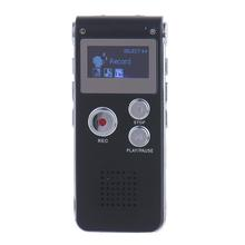 8 GB Clip USB Voice Activated Digital Audio Voice MP3 Dictafoon Recorder Pennen Stereo Opname Audio Recorders MP3 Speler Zwart(China)