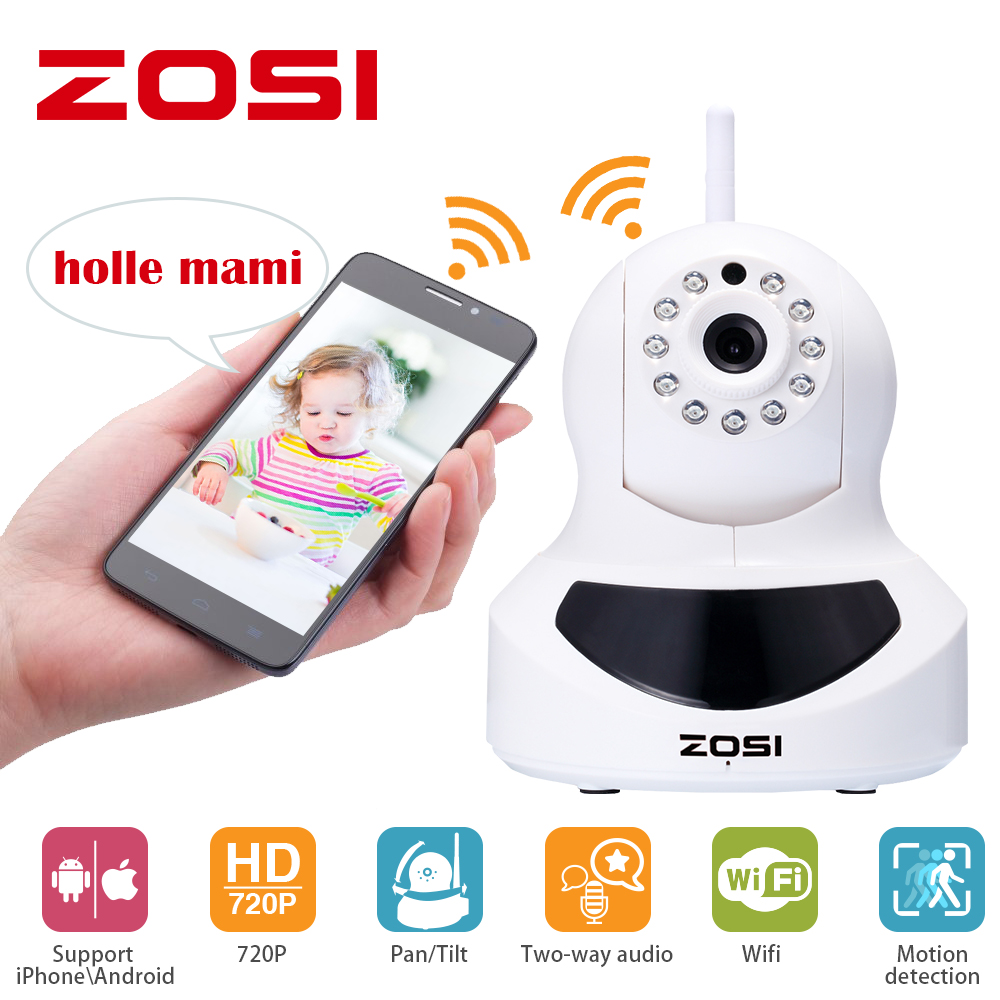 ZOSI Wifi IP Camera 720p Wireless Mini CCTV P2P Camera Baby Monitor Security P/T Micro TF Card Camera Free IOS & Android APP new p2p 720p ip camera wifi wireless mini cctv camera baby monitor security p t micro tf card surveillance camera ios