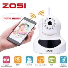 ZOSI Wifi IP Camera 720p Wireless Mini CCTV P2P Camera Baby Monitor Security P/T Micro TF Card Camera Free IOS & Android APP