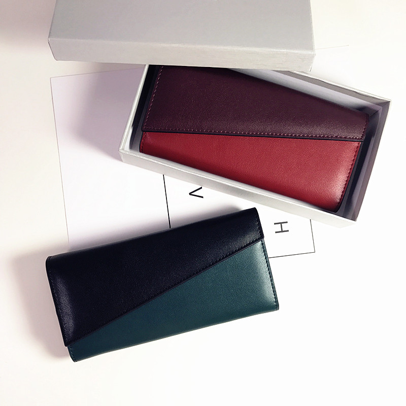 YONGDUO NEW 2017 Genuine Leather Women Wallets Long Design Clutch Cowhide Wallet High Quality Fashion Female Purse Phone Bags new real genuine leather women wallets brand design high quality cell phone card holder cowhide long lady wallet purse clutch