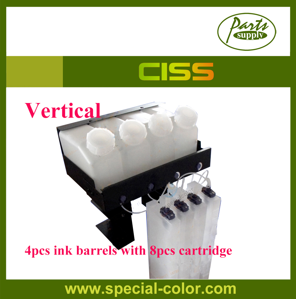 Vertical CISS! 8pcs refill ink cartridge with 4pcs ink barrels for Roland VS640/540 Bulk Ink Supply System