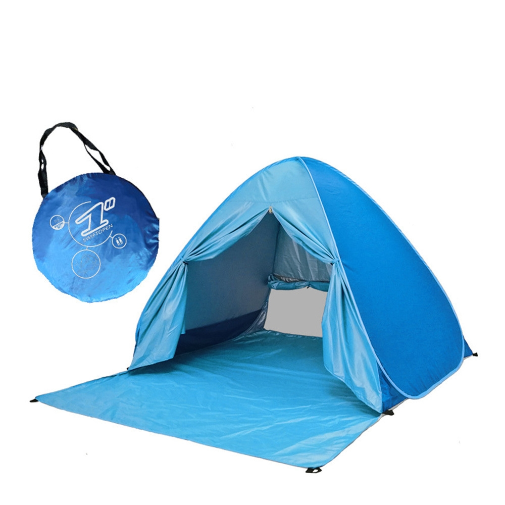 1Piece Outdoor Automatic Pop-up Tent Instant Portable Beach Camping Anti UV Shelter Camping Fishing Hiking Camouflage Tents P5 5 5m camouflage net camping beach tents 150d polyester oxford ultralight sun uv camouflage net outdoor camping beach tents