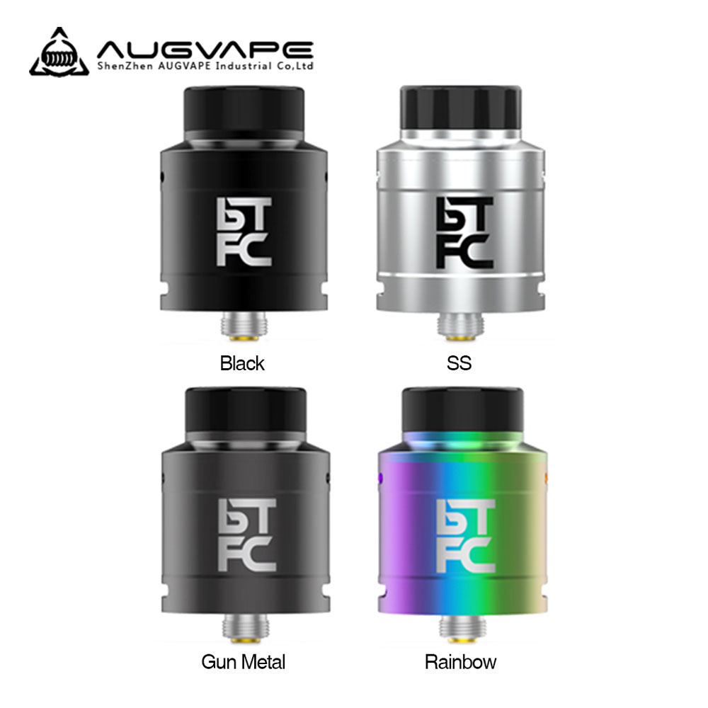 Original AUGVAPE BTFC RDA Tank 25mm RDA Atomizer with Adjustable Double Airflow & BF Pin for Squonker MOD Vape Tank Vs Drop RDA