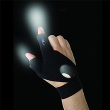 Waterproof Comfortable Night Fishing Glove LED Light Rescue Tools Outdoor Gear Bike Cycling spotlight gloves Wholesale #2a#F(China)