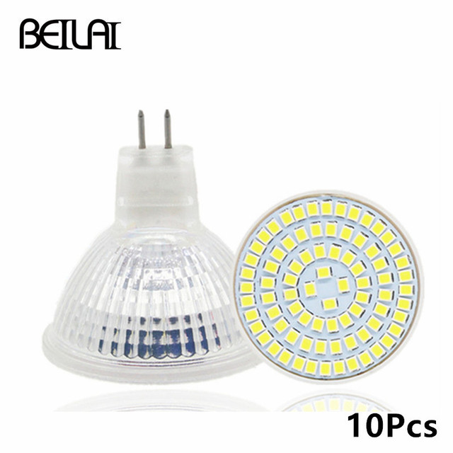beiyun 10 stks 2835 mr16 hittebestendige glas lampada de lamp gloeilampen 220 v mr16 ampul led