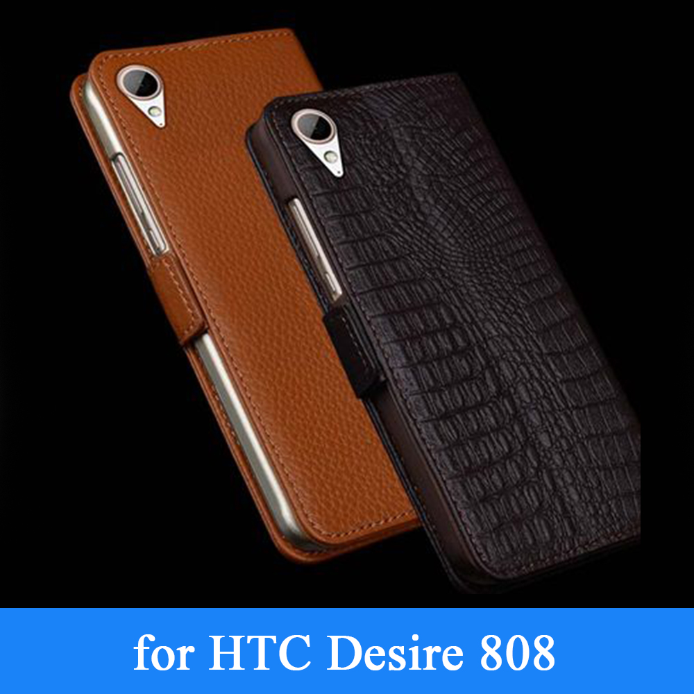 Wobiloo Hot Sale Genuine Leather Cover Phone Case for HTC Desire 828 Luxury Folio Flip Protective Fashion Bag Skin for HTC 828