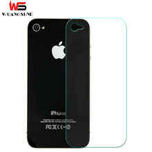 2017 High quality 0.3mm Back Premium Tempered Glass Screen Protector for Apple iPhone 4 4s Back Protective Film