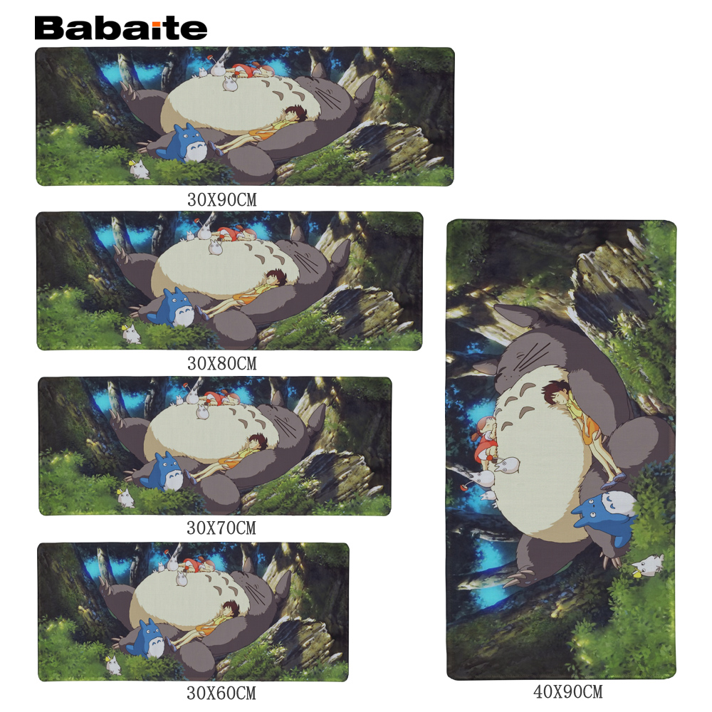 Babaite My Neighbor Totoro Mousepad 700x300x2mm pad to Mouse Notbook Computer Mousepad Big Gaming Padmouse Gamer to Laptop Mouse