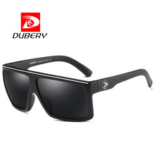 DUBERY Brand Design Polarized HD Sunglasses Men Driving Shades Male Retro Sun Glasses For Men Summer Mirror Square Oculos UV400(China)