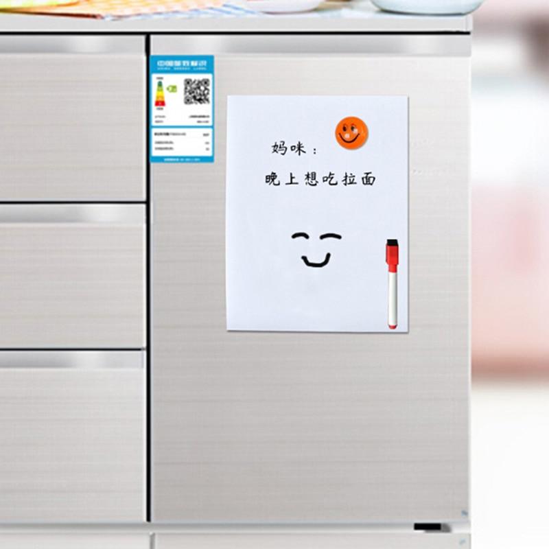 Refrigerator Whiteboard Memo-Pad Magnets Drawing A5 Fridge Flexible Kids 210--145mm