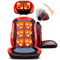 5D Electric Back Massager Vibra Cervical Massage Device Multifunctional Pillow Neck Household Full Body Massage Chair