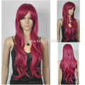 & Wine red / Burgundy Long Straight Women lady Cosplay Wig