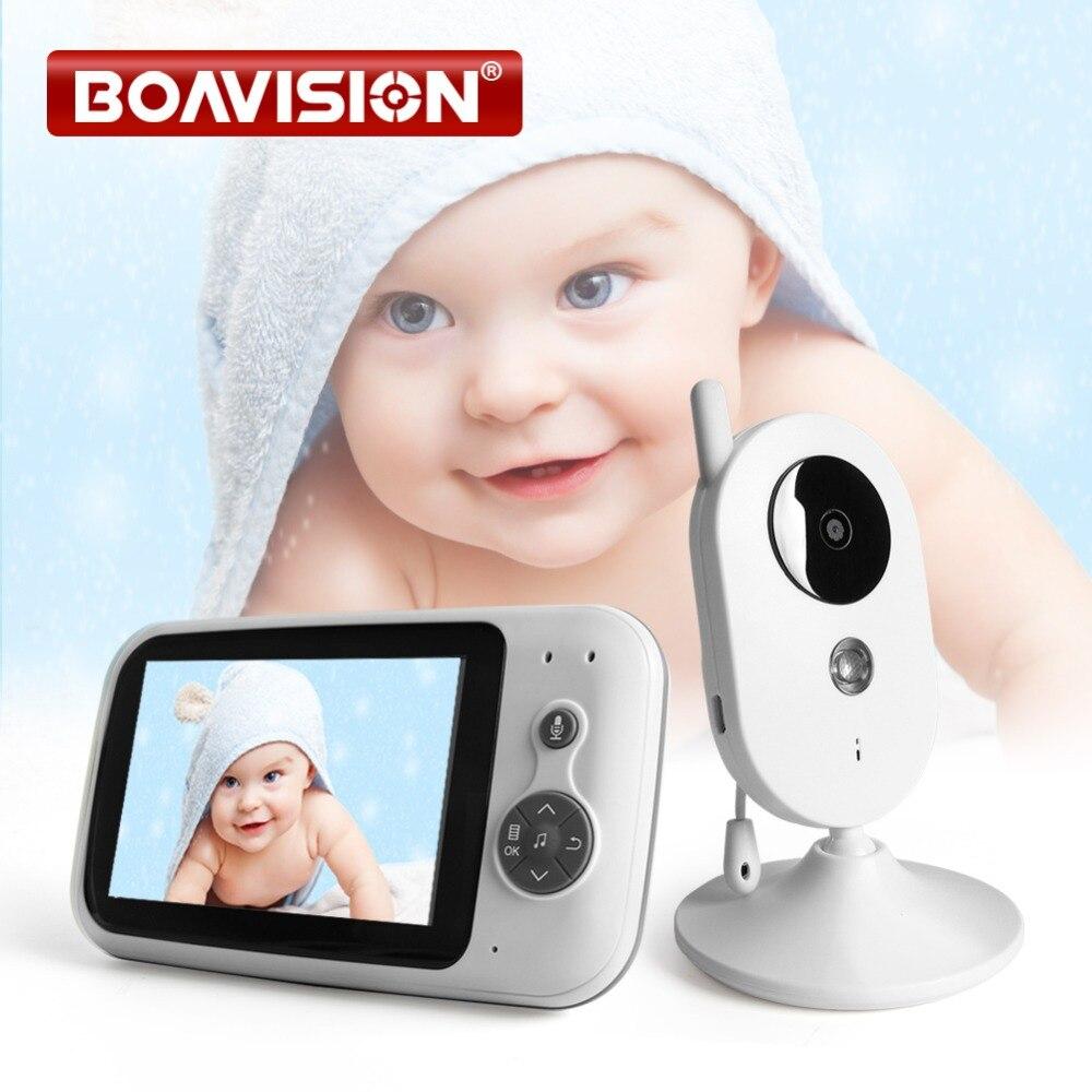 3.5 polegada de Vídeo Digital Monitor Do Bebê De Áudio sem fio de Música Infantil Sensor de Temperatura Da Câmara VB303 Nanny Monitor de Interfone Portátil