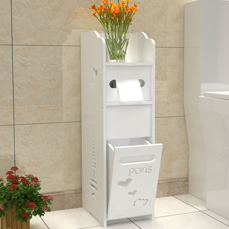 Modern Bathroom Vanity Floor Standing Toilet Cabinet Folding Bathroom Storage Rack Washbasin Shower Corner Shelf Bathroom Locker
